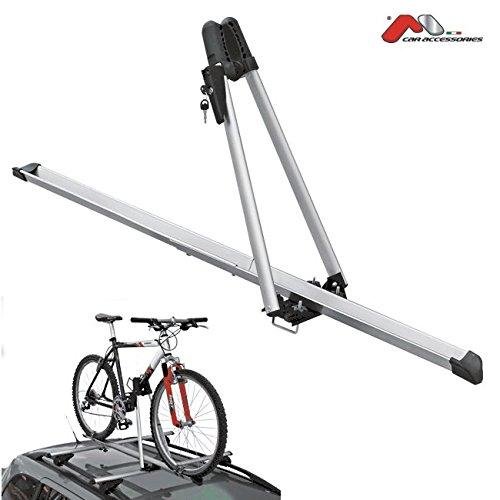 Porte velo sur toit Aluminium - Acier / Fixation 1 vélo